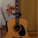 Beautiful acoustic guitar for sale!! Only 4000 yen!!