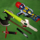 Set of weapons for Make-believe battles between Good and Evil!