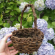 Hand Woven Rustic Basket / Plant Holder