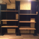 Metal/Wood shelving unit for store/storage: ¥20,000