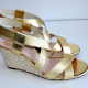 Gold Wedge Sandal Size 26 (US10)