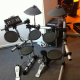 guitar stuff and electronic drum set