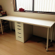 White IKEA Desk with drawer unit