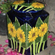 Sunflower Ceramic Jar (Add color to your gardent!)