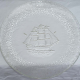 Plate: Sailing Ship Embossed Glass Serving platter