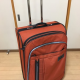 Large suitcase and internal frame backpack