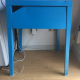 A Blue side table with Draw IKEA