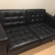 2/3 Seat Leather Sofa in New Condition for 50.000 yen