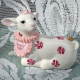 Easter Lamb fine porcelain (Irish Dresden)