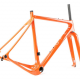 Open Cycles U.P. (Unbeaten Path) Garavel Cross Frame Set Orange with fork New L - 170,000¥
