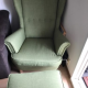 Wing chair with footstool
