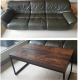 LEATHER SOFA and COFFEE TABLE FOR SALE