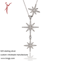 Custom wholesale necklaces 925 silver jewelry