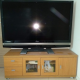 "55"" Sharp LCD HD TV with bottom cabinet"