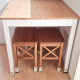 IKEA・Table for kitchen and stools - 7'500 ¥