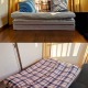 Double futon with foldable mattress, pillows, comforter - ¥15,000