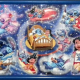 Lilo and Stitch puzzle with frame.