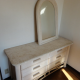 Swank chest of drawers, mirror