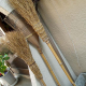 Traditional Twig Broom with Bamboo Handle (''Takeboki'')